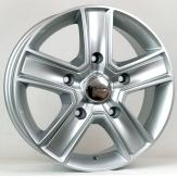 Alu kola HRS BK473, 15x6.5 5x130 ET50, stříbrná (zátěžová)