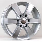 Alu kola HRS BK474, 16x7 6x130 ET50, stříbrná (zátěžová)