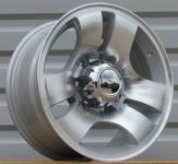 Alu kola Racing Line HE932, 15x7 6x139.7 ET0, stříbrná + leštění