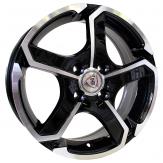 Alu kola Racing Line SH665, 14x5.5 4x100 ET40, černá + leštění