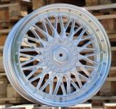 Alu kola Racing Line TL1296, 18x8 5x114.3 ET35, stříbrná + leštěný límec