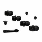 Skryté ventily pro alu kola černé SADA 4ks + adaptér