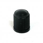 Ventilová čepička plastová černá vysoká