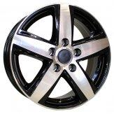 Alu kola Mille Miglia MM100, 17x7 5x120 ET55, černá + leštění (zátěžová)