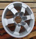 Alu kola Racing Line DW665, 16x8 6x139.7 ET0, stříbrná