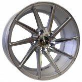 Alu kola Racing Line XF099, 18x8 5x120 ET30, stříbrná + leštění